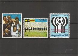 Coupe Du Monde En Allemagne -1974( PA 655/657 XXX -MNH- Du Paraguay) - Fußball-Weltmeisterschaft