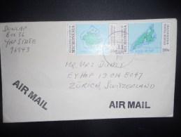 Micronesie, Lettre De Yap 1984 Pour Zurich - Micronésie