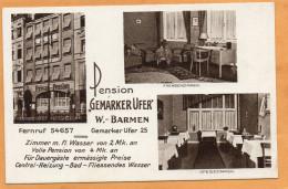 Barmen Wuppertal Pension Gemarker Uffer Germany 1920 Postcard - Wuppertal