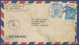 PHILIPPINES  POSTAL USED AIRMAIL COVER TO PAKISTAN - Philippines