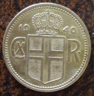(J) ICELAND: Krona 1940 XF (2519) - Islandia