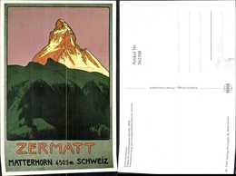362308,Repro Reklame Emile Cardinaux Plakat Für Verkehrsverein Zermatt 1908 Matterhor - Pubblicitari