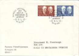 Norway - FDC 10/12 1968 Nobels Fredspristagare 1908 - FDC