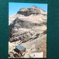 Cartolina Rifugio Forcella Pordoi M.2849 Cima Boè Non Viaggiata Timbro Rifugio - Trento
