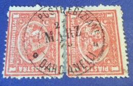 """1874-75 1 Pi RARE """"POSTE EGIZIANE DARDANELLI 1879"""" USED ABROAD (Egypt Egypte Turkey Turkei Dardanelles - Égypte"""