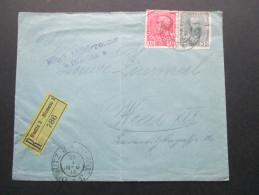 Österreich 1916 MiF Nr. 144 Und 149 Einschreiben R-Brief Olmütz 3 - Olomouc 3 No 786. KuK Militärzensur Olmütz - 1850-1918 Imperium
