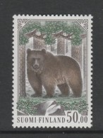 TIMBRE NEUF DE FINLANDE - L´OURS BRUN : URSUS ARCTOS N° Y&T 1054 - Ours