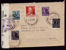A4072) Kontrollrat Brief Von Hildesheim 26.10.47 Nach Pieterlen / CH Mit Sonderstempel / Zensur - Gemeinschaftsausgaben