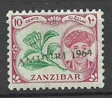 ZANZIBAR 1964 Michel 262 Überdruck Jamhuri 1964 MNH - Zanzibar (1963-1968)