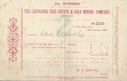 Londres & Johannesburg, 1909-1946 - Luipaards Vlei Gold Mining Company - Rapport 1945 Et 7 Bordereaux - Otros