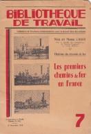 Les  Premiers  Chemins  De  Fer  En  France  ( Brochure  De 24 Pages.  Format : 23 Cm X 15,5 Cm) - Chemin De Fer