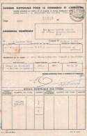 Nice (06), 1942-1946 - Banque Nationale Pour Le Commerce Et L´Industrie - 10 Bordereux Numériques De Titres Avec Cachet - Andere