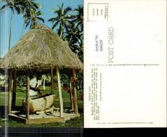 360620,Oceania Fidschi Fijian Lali Beating Of Lali Trommel Pavillon Palmen - Ansichtskarten