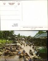 360782,Thailand Dhornburi Scenery Of The Floating Market Markt Boote - Thaïland