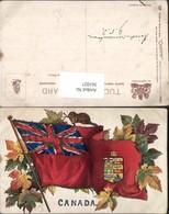 361027,Künstler AK Canada Flagge Wappen Ahornblätter Pub Raphael Tuck & Sons 2552 - Kanada