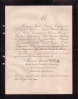 JUDAICA Caen Edouard WELHOFF Ancien Juge 1803-1883 Familles BREAL SELIGMANN Faire-part Mortuaire Diaspora Juive - Décès