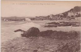 Carte Postale Ancienne,83,VAR,LE LAVANDOU,EN 1924,MER,VAGUE,MAISON,ROCHER - Le Lavandou
