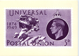 GB Universal Postal Union UPU Card - Stamps (pictures)
