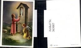 363087,Andachtsbild Heiligenbildchen Kind Engel Marterl Wegkreuz M. Marienstatue - Andachtsbilder