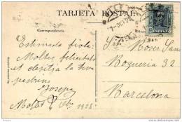 18694. Postal MOLLET (Barcelona)  1928. Alfonso XIII. Monasterio Ripoll - Cartas