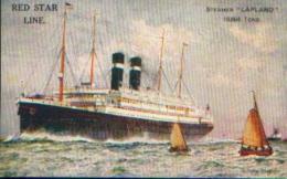 RED STAR LINE - Steamer « LAPLAND » - Carte Postale - Bateaux