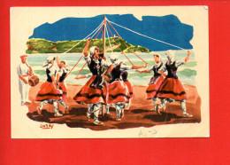 Danse Des Rubans - ZINTA-DANTZA - Baile De Las Cintas - Folklorique Année 1962 (plis) - Danses