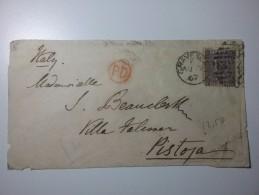 17 Gravesend 1867 6p Isolato Cover - 1840-1901 (Regina Victoria)
