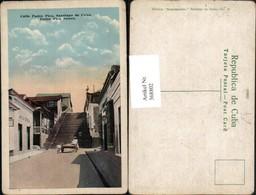 368802,Kuba Cuba Santiago De Cuba Padre Pico Street Straßenansicht Stiege - Ansichtskarten