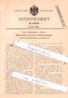 Original Patent  - Paul Thommen In Basel , 1903 , Manuskripthalter !!! - Historische Dokumente