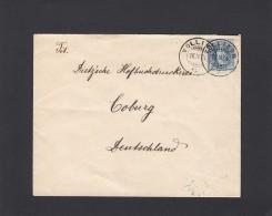 SUISSE:LETTRE DE VOLLIKON POUR COBURG(ALLEMAGNE),1904. - 1882-1906 Armoiries, Helvetia Debout & UPU