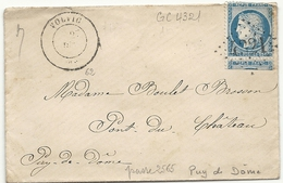 Puy De Dome - Volvic Pour Pont Du Chateau. GC + CàD Type 17. Indice 9 - Postmark Collection (Covers)