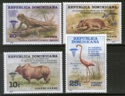 Dominican Rep 1977 Veterinary Congress Bird Lizard Wildlife Sc 797-C263 MNH # 3583 - Birds