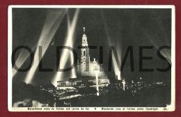 FATIMA - SANTUARIO - VISTA NOCTURNA - 1950 REAL PHOTO PC - Santarem