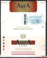 Tobacco Cigarettes Cardboard Box Bosnia Sarajevo Aura Extra - Contenitori Di Tabacco (vuoti)