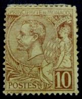 Monaco 1891 Albert I 10C Mi.14 Brown MH AM.437 - Monaco