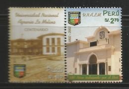 B)2002 PERU, BUILDING,  ARCHITECTURE, UNIVERSITY, YEARS WORKING FOR PERU, LA MOLINA AGRICULTURAL UNIVERSITY, SC 1310 A61 - Peru