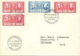 Sweden - FDC 1/7 1942 Folkskolan 100 år - FDC