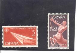 España/Spain-(MNH/**) - Edifil  1765-66 - Yvert Urgente 34-35 - Correo Urgente