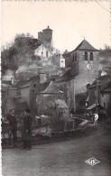 12 - MURET LE CHATEAU : L'Eglise Et Le Chateau - CPSM Dentelée Noir Blanc PF 1954 - Aveyron - France