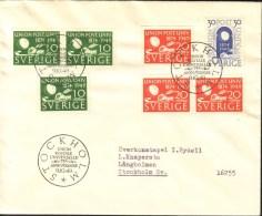Sweden - FDC 9/10 1949 Världspostföreningen 75 år - FDC
