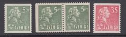 Sweden 1940 - Michel 277-278 Mint Hinged * - Sweden