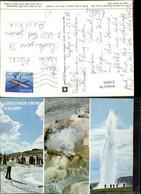 374505,Iceland Island Great Geysir Sinterablagerung Strokkur Mehrbildkarte - Island