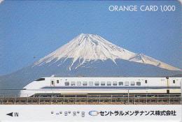Carte Orange Japon - VOLCAN MONT FUJI & TRAIN - VULCAN Japan Prepaid JR Card - VULKAN Berg & ZUG Karte - 279 - Vulkane