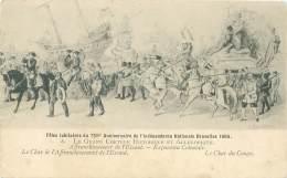 BRUXELLES - 1905 - Fêtes Jubilaires 75ème Anniversaire De L'Indépendance Nationale - Le Grand Cortège Historique - Char - Feesten En Evenementen