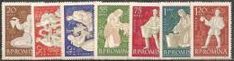 Romania 1960 Nuovo** - Mi.1934/40  Yv.1748/54 - Nuovi