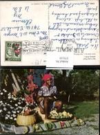 375155,Jamaica Say It With Fruit Wort Aus Obst Bananen Volkstyp Hund Hühner - Ansichtskarten