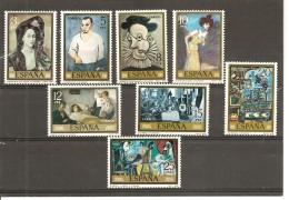 España/Spain-(MNH/**) - Edifil  2481-88 - Yvert 2127-34 - 1971-80 Nuevos & Fijasellos