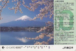 Carte Prépayée Japon - VOLCAN MONT FUJI - VULCAN Mountain Japan Prepaid IO Card - VULKAN Berg  Karte - 282 - Vulkane