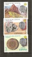 España/Spain-(MNH/**) - Edifil  2493-95 - Yvert 2149-51 - 1971-80 Nuevos & Fijasellos