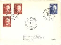Sweden - FDC 10/12 1959 Svante Arrhenius - FDC